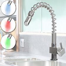 Bad Küche Einhebel LED Wasserhahn RGB Armatur Waschtisch Schlauch Mischbatterie