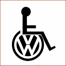 VW CAMPER SURF TRANSPORTER VAN T3 T4 T5 GOLF WHEELCHAIR DISABLED  STICKER DECAL