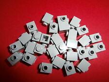LEGO  20 hellgraue 1er Bausteine / Konverter mit 1 Noppe / Loch / Knopf  NEUWARE