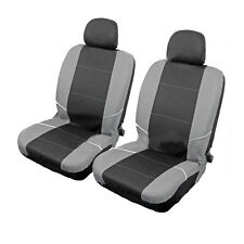 Pair Covers Protectors Black Grey Universal Front Car Seat & Headrest Washable