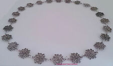 MENS ELABORATE SILVER FLOWERS TUDOR  CHAIN OF OFFICE LARP SCA RENNAISSANCE
