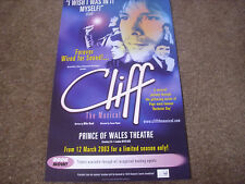CLIFF  Richard the Musical  PRINCE of WALES Theatre Original Poster 2003