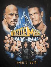 """2013 """"Wrestle Mania NY / NJ"""" THE ROCK JOHN CENA (SM) T-Shirt"""