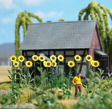 18 GIANT SUNFLOWER SET 1/87 scale plastic model Busch