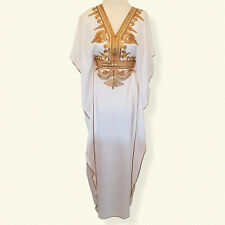 President Day Sale !!!!  Moroccan kaftan Embroidery Maxi Batwing fancy Dress