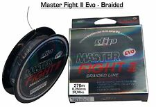 "MULTIFIBRA MASTER FIGHT II EVO BRAIDED LINE 270m 0,250mm 28,9kg ""DIP"" PESCA -D6"