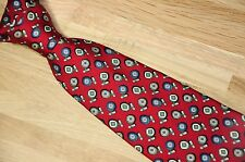 """Brooks Brothers Red Blue Cufflink Print Smooth Silk Made in Canada Neck Tie 3.5"""""""