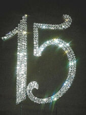 NEW Larger Diamante Quinceañera Number 15 Birthday  Cake Topper quality  Bling
