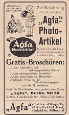 Agfa - Photo-Artikel - Werbetafel für das Schaufenster um 1920
