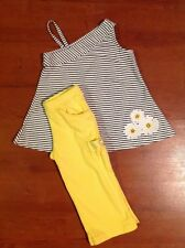Girls Gymboree Lady Daisy Flower Striped Tank Top And Yellow Capris Size 5 5t