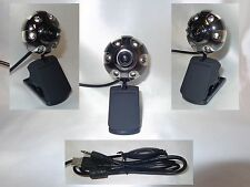 USB Web Cam Camera Webcam 6LED Mikrofon Clip 30MP MSN Skype Metall Y215 Silber