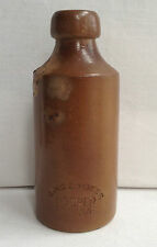 RARE STONEWARE GINGER BEER BOTTLE HOOPER STRUVE, MADE BY BOURNE DENBY