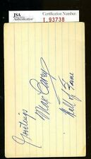 MAX CAREY JSA AUTHENTICATED SIGNED 3X5 INDEX CARD AUTOGRAPH