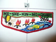 OA Me She Kin No Quah Lodge 269,S-3c,1960s Turtle Flap,173,425, Meshingomesia,IN