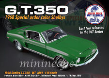 ACME A1801809 1968 FORD SHELBY MUSTANG GT 350 WT COLOR CODE 7081 RELEASE #5 1/18