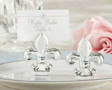 24pcs shiny silver Fleur-de-Lis place Card Holder wedding favor Free shipping