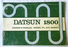 1972 DATSUN 1800  OWNERS MANUAL ORIGINAL