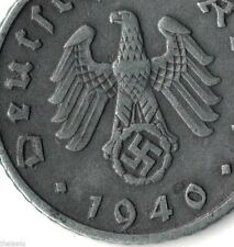 Rare Old Antique Vintage WW2 WWII German Military Nazi Germany War Swastika Coin