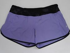 LULULEMON lavender purple seabed waist Turbo Shorts longer inseam speed style 6