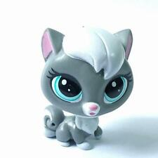 Littlest Pet Shop LPS #124 Grey Cloudy Coalson Kitty Cat Pets In The City figure