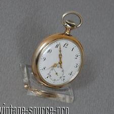 edle alte 800er Silber Taschenuhr Ankerhemmung Breguet Spirale 15 Jewels um 1900