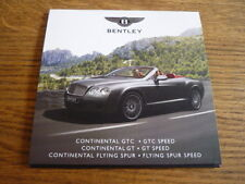 "BENTLEY CONTINENTAL GT, GTC, FLYING SPUR (PLUS SPEED) PRESS PHOTO CD ""BROCHURE"""