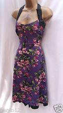 Karen Millen sexy 1940s vintage floral satin de soie pâques mariage shift dress 10