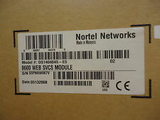 DS1404045-E5 NORTEL NETWORKS 8600 WEB SVCS MODULE BRAND NEW!