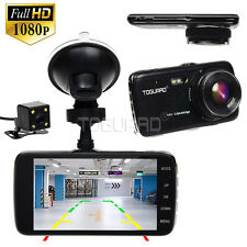 "Toguard 4"" IPS HD 1080p Car Camera Front and Rear Dash Cam Recorder Parking"