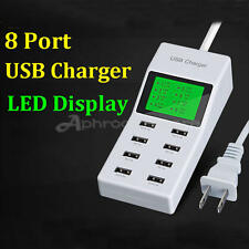 Universal Smart LED Display Multi USB Port Desktop Wall Charger Charging Station
