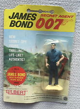 GILBERT 16502 JAMES BOND 007 ~ No.2 CONNERY FIGURE WITH RIFLE - ORIGINAL CARD