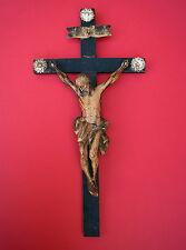 Jesus / Kruzifix - 18. Jahrhundert  Holz geschnitzt  (# 7153)