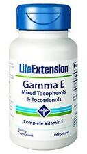 2 PACK $23.95 Life Extension Gamma E Mixed Tocopherols & Tocotrienols Vitamin E