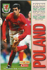 WALES v POLAND 2001 WORLD CUP QUALIFIER FOOTBALL PROGRAMME