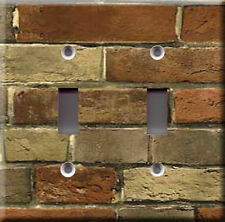 BRICK MODEL 1 DOUBLE LIGHT SWITCH PLATE COVER