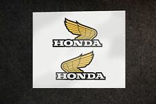 2X HONDA CLASSIC WINGS STICKERS BIKE DECALS VINYL DECAL TANK