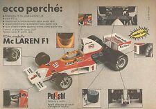 X0707 Mc Laren F1 - Polistil - Esiste solo un'altra... - Pubblicità del 1976
