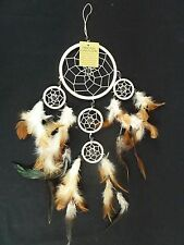 18 inch Tan Dream Catcher to Help Sleep From Bad Dreams with 4.5 in ring DCS58