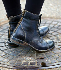 $285~FREE PEOPLE~BED STU 'LAUREL' LEATHER ANKLE BOOT BLACK 7M!