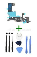 iPhone 5 Black Charging Port + Tools - Replacement Charger Flex USB Dock Apple
