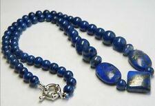 """Natural Egyptian Lapis Lazuli Gem Beads Necklace 18"""""""