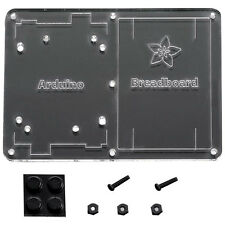 Plastic Mounting Plate for Breadboard and Arduino
