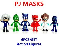 6 PCS PJ MASKS SUPER PIGIAMINI SET TOY PERSONAGGI ACTION FIGURE CATBOY & FRIENDS