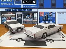 Papercraft 1977 Lincoln Mark V WHITE Paper Car EZU-Make It Toy Model Car