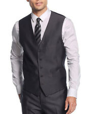 INC $39 NEW Mens Charcoal Herringbone 752 Dave Five Buttons Vest L