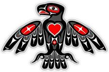 """#z1033 (1) 3.75"""" Totem Eagle Native American Decal Sticker Car LAMINATED Heart"""