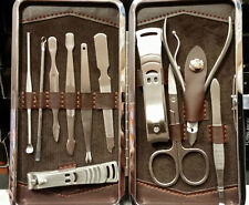 SET KIT COMPLETO MANICURE PEDICURE DA PER VIAGGIO ASTUCCIO CUSTODIA IDEA REGALO