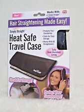 NEW - Simply Straight Brush Heat Safe Case ( Flat irons, Curling Irons) TV