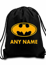 BOY Personalised BATMAN DARK KNIGHT Gym BAG Swimming PE Dance School GIFT