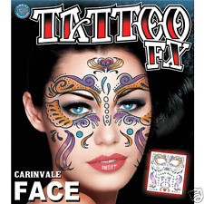 Carnivale Costume Face Kit Temporary Tattoo FX Tinsley Transfers Costume